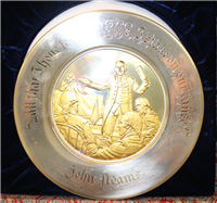 The John Adams Official 1974 Bicentennial Commemorative Plate  (Franklin Mint, 1974)