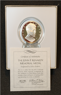 John F. Kennedy Memorial Silver Medal (Franklin Mint, 1973)
