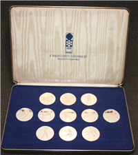 Official Commemorative Medals of the Sapporo XI Winter Olympics Games Silver Proof Set  (Franklin Mint, 1972)