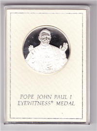 Franklin Mint  Pope John Paul I Eyewitness Medal (Sterling)
