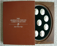 The John F. Kennedy Profiles In Courage Silver Cameo Collection  (Franklin Mint, 1978)