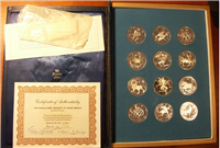 The Treasury of Zodiac Medals Collection by Gilroy Roberts    (Franklin Mint, 1970)