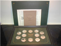 Norman Rockwell's Medallic Tribute to Robert Frost Medals Collection  (Franklin Mint, 1974)