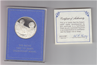 Sadat's Visit to Israel Eyewitness Medal   (Franklin Mint, 1977)
