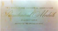 Franklin Mint  White House Historical Association Presidential Medals (20mm, Gold)