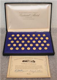 The White House Historical Association Presidential Gold Medals (Franklin Mint, 12mm, 24KT Gold)