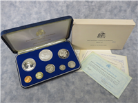 BARBADOS First National Coinage 8 Coin Silver Proof Set (Franklin Mint, 1973)