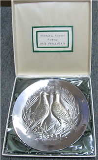 'Peace On Earth' by Stanley W. Galli Limited Edition Plate (Wendell August Forge, 1973)