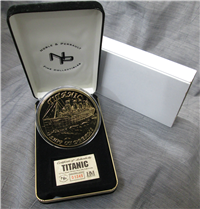 Titanic 1/2 Troy Pound 999 Pure Silver with 24K Electroplate Proof Medal (Highland Mint)