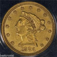 USA 1886  $2.50 Gold Indian Head