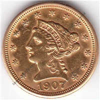 USA 1907  $2.50 Gold Indian Head