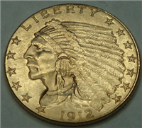 USA 1912  $2.50 Gold Indian Head