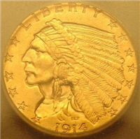 USA 1914  $2.50 Gold Indian Head