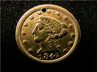 1847O  $5 Gold Liberty Head