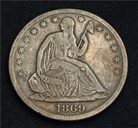 USA 1869S  Seated Liberty Dime