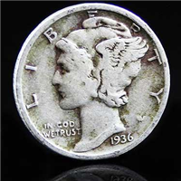 USA 1936  Mercury Dime