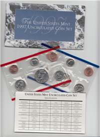 10 Coin Denver & Philadelphia Uncirculated Set    (US Mint, 1997)