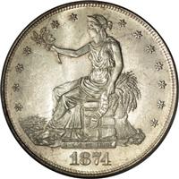 USA 1874  Trade Silver Dollar