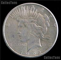 USA 1922S  Peace Silver Dollar