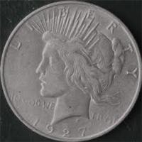 USA 1927D  Peace Silver Dollar