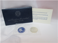 Eisenhower Uncirculated Silver Dollar Blue Envelope (U.S. Mint, 1972)