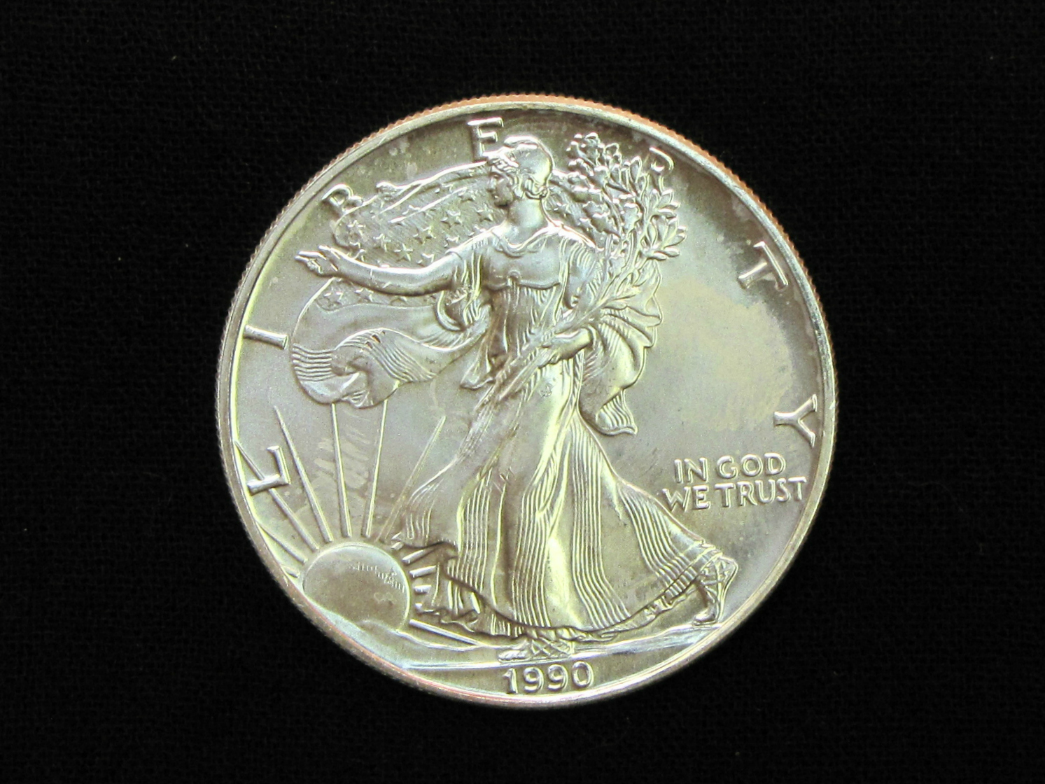 Value Of Usa 1990 Uncirculated American Eagle Silver