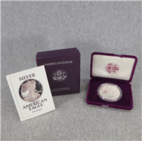 American Eagle Silver Dollar Proof + Box & COA (US Mint, 1991S)