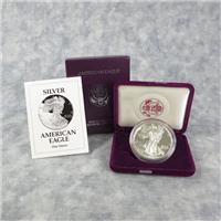 American Eagle Silver Dollar Proof in Box + COA (US Mint, 1993P)