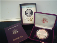 USA 2009W  American Eagle Silver Dollar Proof in Box with COA