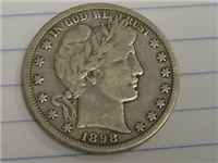 USA 1898  Barber Half Dollar