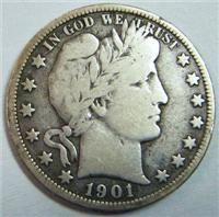 USA 1901S  Barber Half Dollar