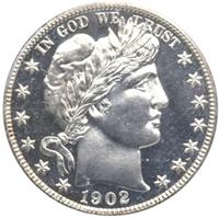 USA 1902  Barber Half Dollar