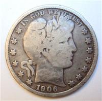 USA 1906S  Barber Half Dollar