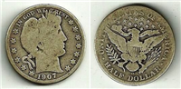 USA 1907D  Barber Half Dollar