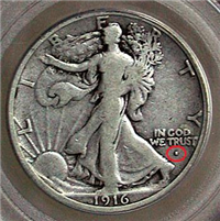 USA 1916  Walking Liberty Half Dollar