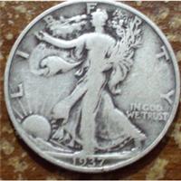 USA 1937S  Walking Liberty Half Dollar