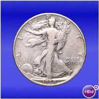 USA 1938D  Walking Liberty Half Dollar