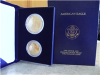 1987 US Mint $25 + $50 Gold American Eagle 2-Coin Proof Set with Box and COA