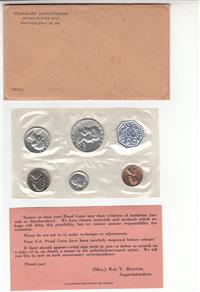 5 Coin Philadelphia Mint Silver Proof Set   (U.S. Mint, 1961)