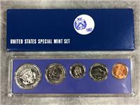 1967 SPECIAL MINT SET 5 Coins w/ 40% Silver Half Dollar  (U.S. Mint, 1967)