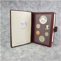 7 Coin Prestige Proof Set with Olympic Silver Dollar  (US Mint, 1984)