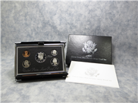 5 Coin Silver Premier Proof Set with Box & COA (US Mint, 1996)