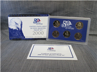 5 Coins 50 State Quarters Proof Set   (US Mint, 2000)