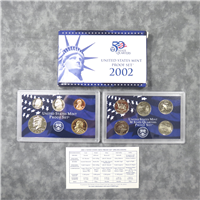 10 Coins Proof Set  (U.S. Mint, 2002) State Quarters Sacagawea Dollar & Kennedy Half