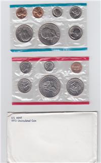 USA 13 Coins Uncirculated Mint Set  (US Mint, 1973)