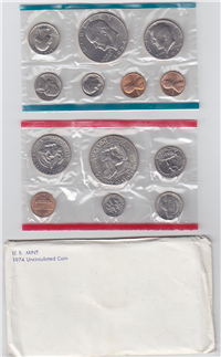 USA  13 Coins Uncirculated Mint Set  (US Mint, 1974)