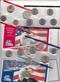 USA 20-Coin Denver & Philadelphia Uncirculated Set  (U.S. Mint, 2003)