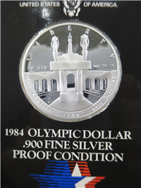 Olympic Silver $1 Dollar Proof Silver Coin (US Mint, 1984)