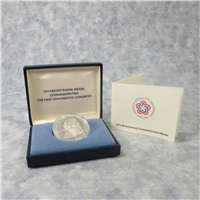 American Revolution Bicentennial Council: Bicentennial Medal Commemorating the first Continental Congress (U.S. Mint, 1974)