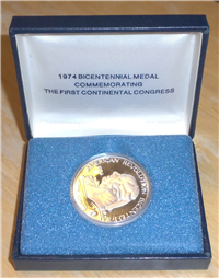 American Revolution Bicentennial Council: 1974 Bicentennial Medal Commemorating the first Continental Congress - John Adams (Sterling)